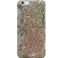 Vintage Map of Naples Italy (1572) iPhone Case/Skin