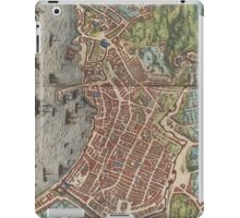 Vintage Map of Naples Italy (1572) iPad Case/Skin