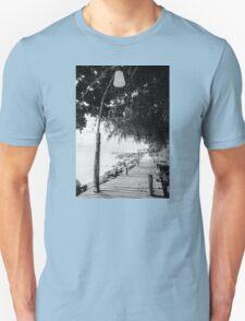 Empty wooden pier on tropical island T-Shirt