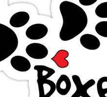DOG PAWS LOVE BOXER DOG PAW I LOVE MY DOG PET PETS PUPPY STICKER STICKERS DECAL DECALS Sticker