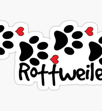 DOG PAWS LOVE ROTTWEILER DOG PAW I LOVE MY DOG PET PETS PUPPY STICKER STICKERS DECAL DECALS Sticker