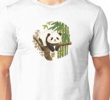 Panda under Sunlight - Pink Unisex T-Shirt