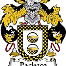 Pacheco Coat of Arms/ Pacheco Family Crest by William Martin