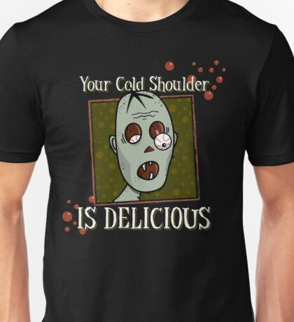 Zombie, Delicious Cold Shoulder Unisex T-Shirt