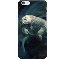 Polar Bear Swimming With Northern Lights iPhone Case/Skin