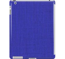 Natural Woven Blue Burlap Sack Cloth iPad Case/Skin