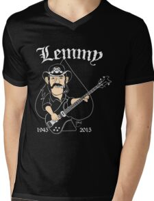 Lemmy Rocks Mens V-Neck T-Shirt