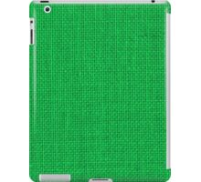 Natural Woven Neon Green Burlap Sack Cloth iPad Case/Skin