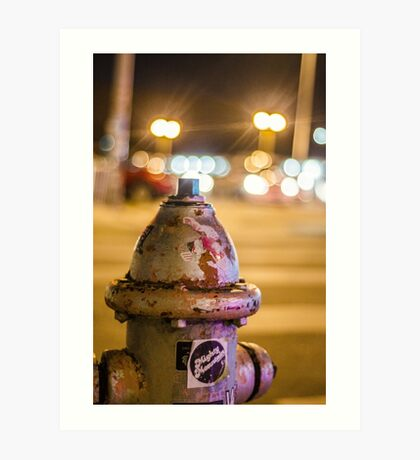 Battered Hydrant Art Print