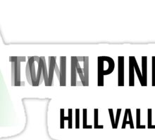Twin Pines/Lone Pine Mall – BTTF, Optical Illusion Sticker