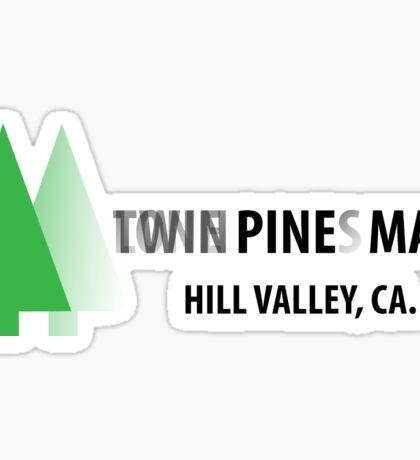 Twin Pines/Lone Pine Mall – BTTF, Optical Illusion Sticker