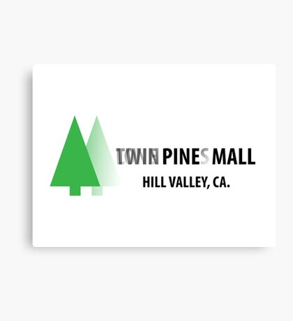 Twin Pines/Lone Pine Mall – BTTF, Optical Illusion Canvas Print
