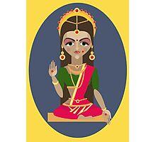 illustration of Hindu deity mother Parvati Photographic Print