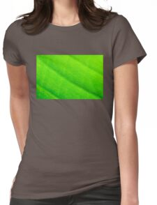 Macro shot of green leaf, nature pattern background Womens Fitted T-Shirt