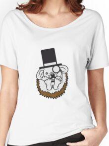 süße kleine niedliche igel familie 2 kinder mama papa geschwister  Women's Relaxed Fit T-Shirt