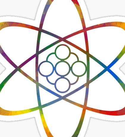Rainbow Atom Sticker
