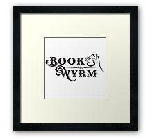 Book-Wyrm Clever Fantasy Bibliophile Framed Print