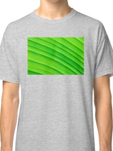 Macro shot of green leaf, nature pattern background Classic T-Shirt