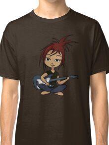 Guitar Chick (version 2) Classic T-Shirt