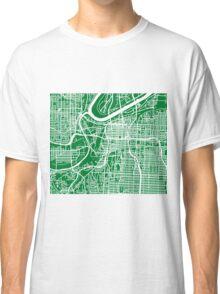 Kansas City Map - Green Classic T-Shirt