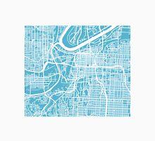 Kansas City Map - Baby Blue Unisex T-Shirt