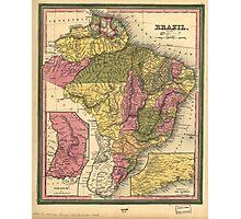 Vintage Map of Brazil (1846) Photographic Print