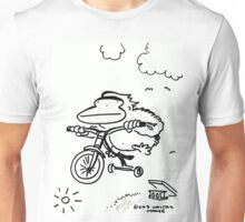 Tricycle Ape Jumps Off Ramp Unisex T-Shirt
