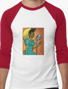 """Chocolate Soulism"" Men's Baseball ¾ T-Shirt"