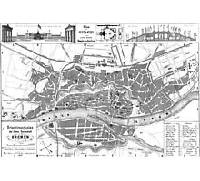 Vintage Map of Bremen Germany (1865) Photographic Print