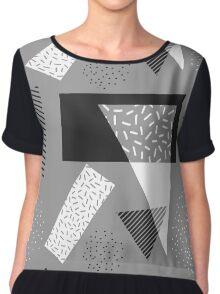 Abstract geometry Chiffon Top