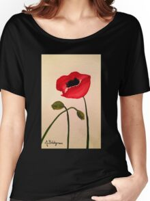 Red Poppy  Women's Relaxed Fit T-Shirt