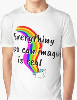 Rainbow of Unicorn is everything you want from life Graphic T-Shirt