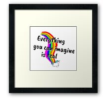 Rainbow of Unicorn is everything you want from life Framed Print