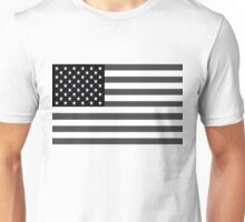 American Flag Black And White Unisex T-Shirt