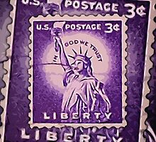 Liberty Stamp Collage by morningdance
