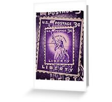 Liberty Stamp Collage Greeting Card