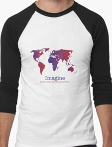 Imagine (white) Men's Baseball ¾ T-Shirt