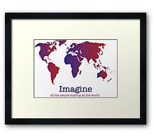 Imagine (white) Framed Print