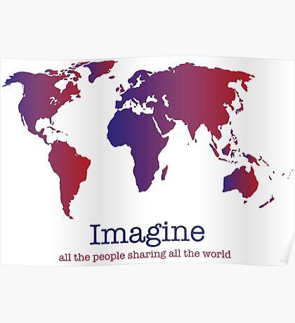 Imagine (white) Poster