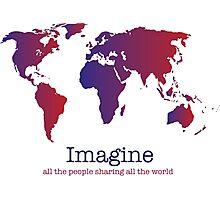 Imagine (white) Photographic Print