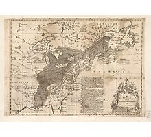 British and French Settlements of America (1755) Photographic Print