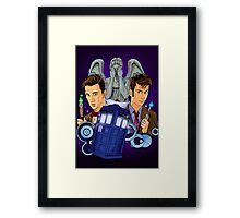 10th and 11th Doctor fan art Framed Print