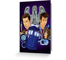 10th and 11th Doctor fan art Greeting Card