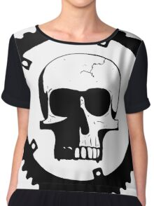 Sprocket Skull Chiffon Top
