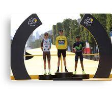 Tour de France 2016-podium Canvas Print