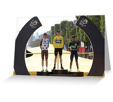Tour de France 2016-podium Greeting Card