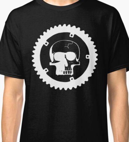 Sprocket Skull- White on Black Classic T-Shirt