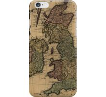 Vintage Map of The British Isles (1700s) iPhone Case/Skin
