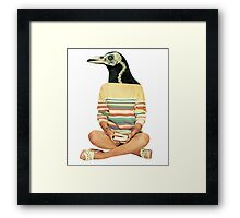 Crow head Framed Print