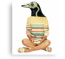 Crow head Canvas Print